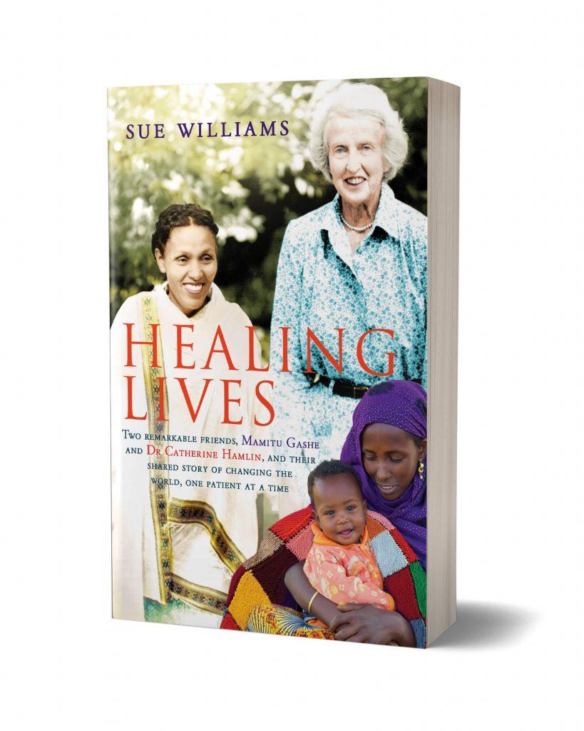 Book Mockup Healing Lives 2 | Catherine Hamlin Fistula Foundation (USA) | Working to eradicate obstetric fistula. Forever.